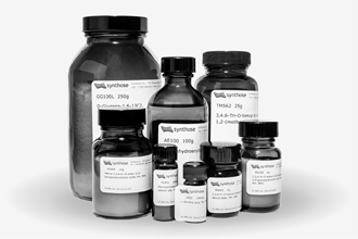 Group of 8 amber glass product containers, ranging from a 4 milliliter vial to a 250 gram jar.